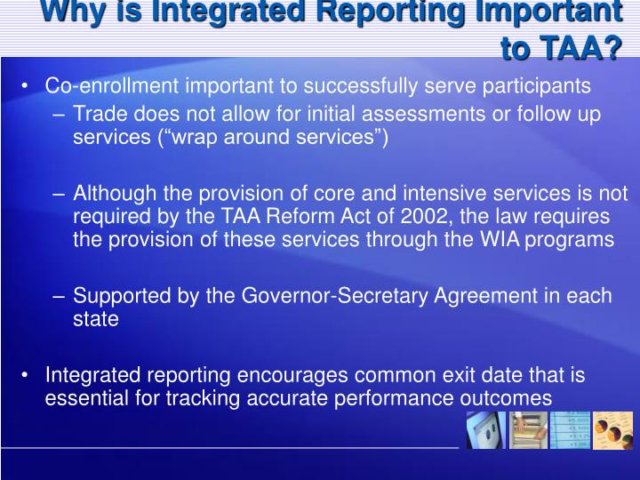 Why is Integrated Reporting Important to TAA?