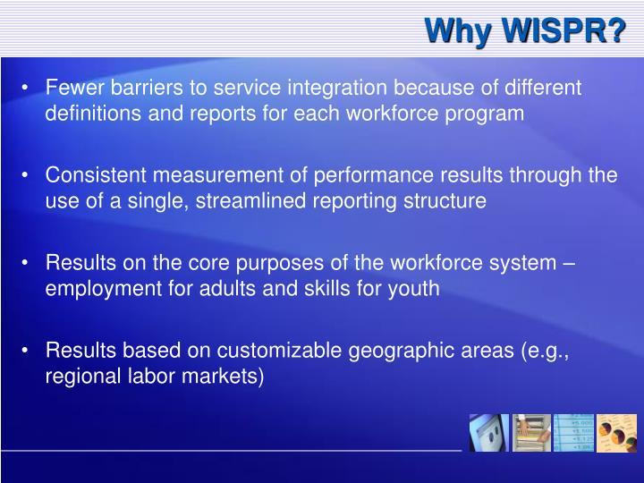 Why WISPR?