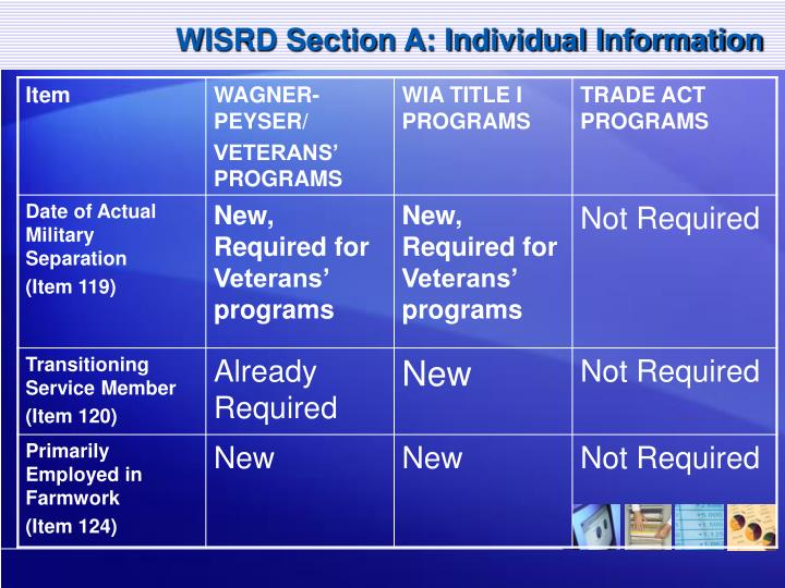 WISRD Section A: Individual Information