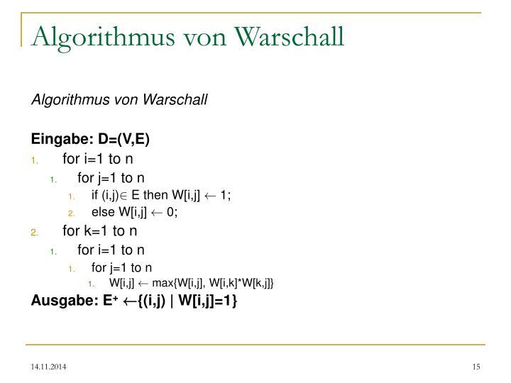 Algorithmus von Warschall