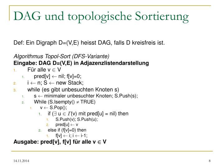 DAG und topologische Sortierung