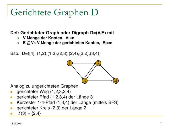 Gerichtete Graphen D