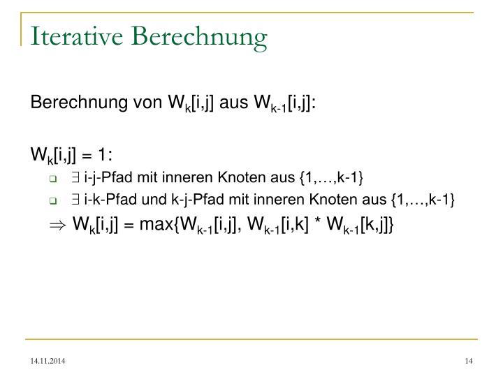 Iterative Berechnung