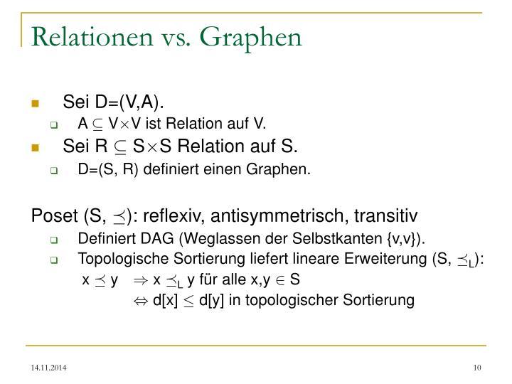 Relationen vs. Graphen
