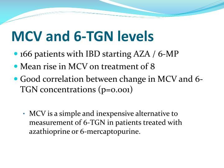 MCV and 6-TGN levels