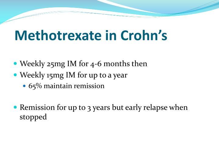 Methotrexate in Crohn's