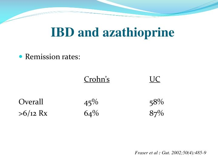 IBD and azathioprine