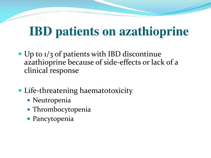 IBD patients on azathioprine
