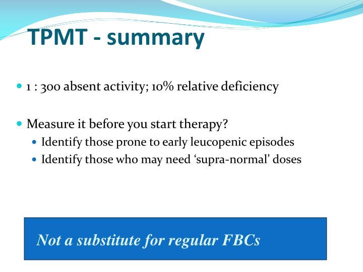 TPMT - summary
