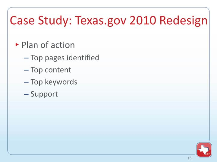 Case Study: Texas.gov 2010 Redesign