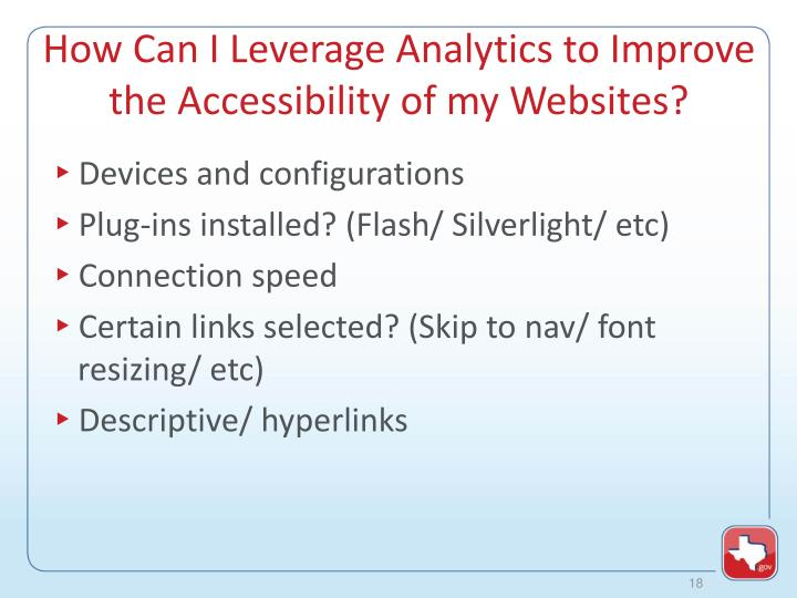 How Can I Leverage Analytics to Improve the Accessibility of my Websites?