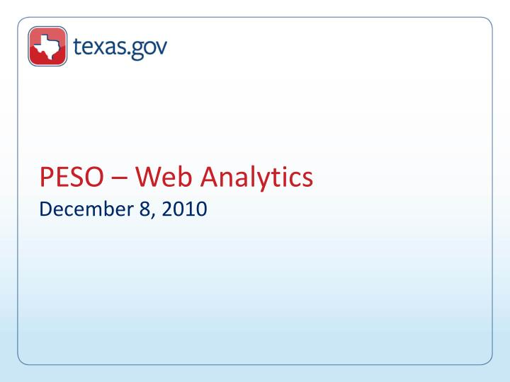 Peso web analytics december 8 2010