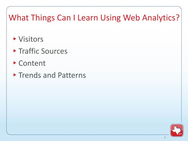 What Things Can I Learn Using Web Analytics?