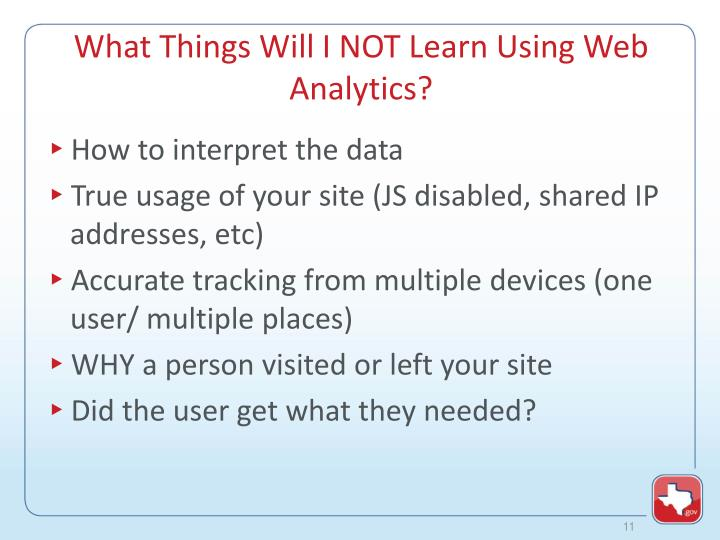 What Things Will I NOT Learn Using Web Analytics?