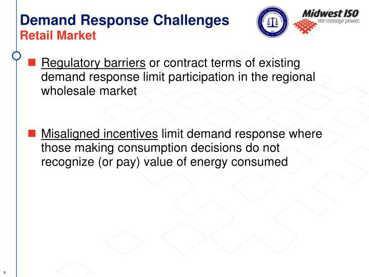 Demand Response Challenges