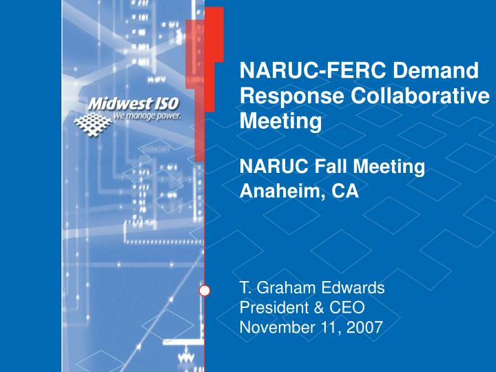 Naruc ferc demand response collaborative meeting naruc fall meeting anaheim ca
