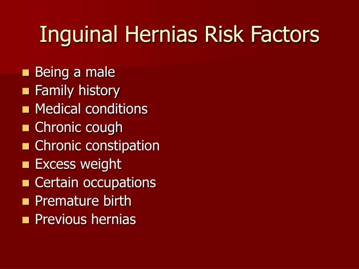 Inguinal Hernias Risk Factors