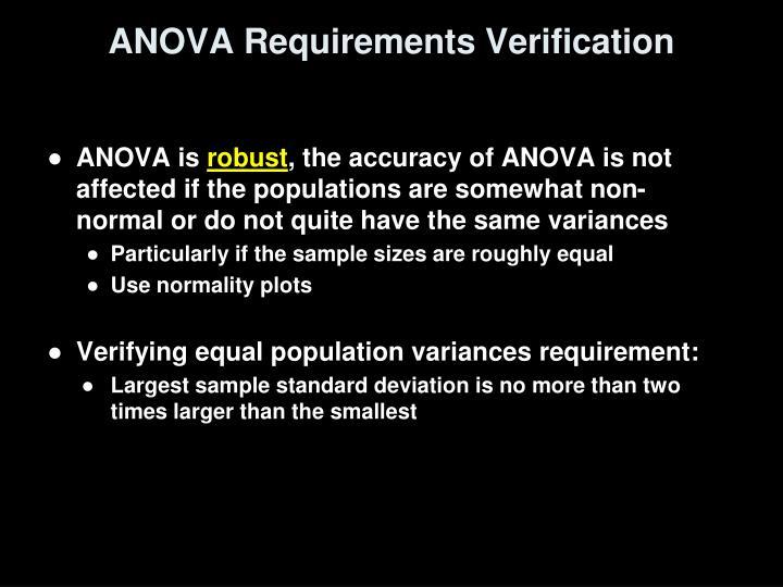 ANOVA Requirements Verification