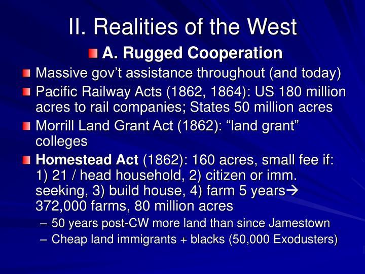 II. Realities of the West