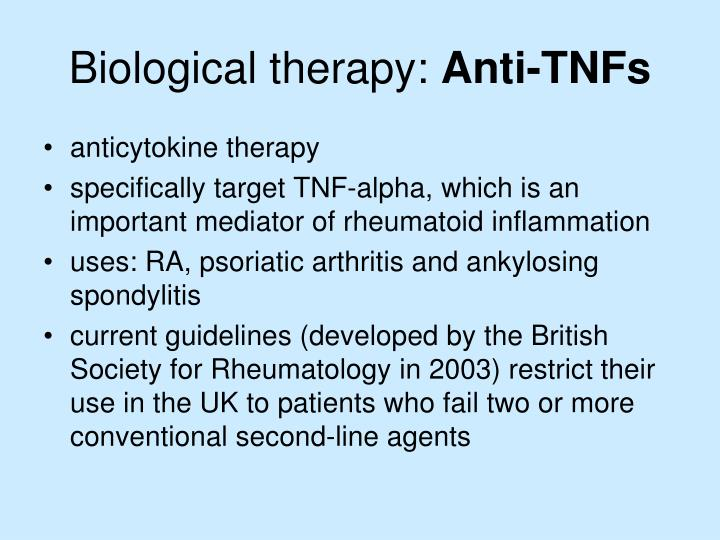 Biological therapy: