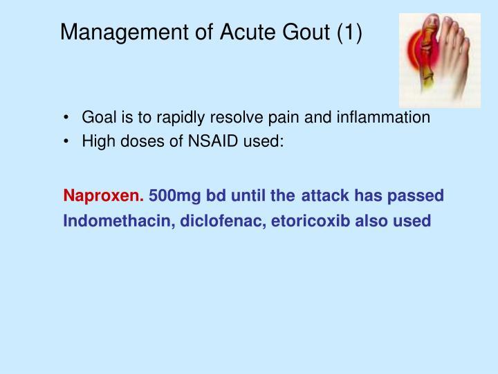 Management of Acute Gout (1)