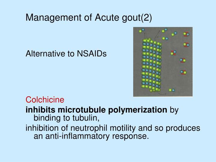Management of Acute gout(2)
