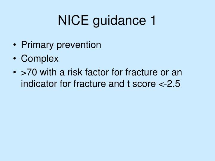 NICE guidance 1