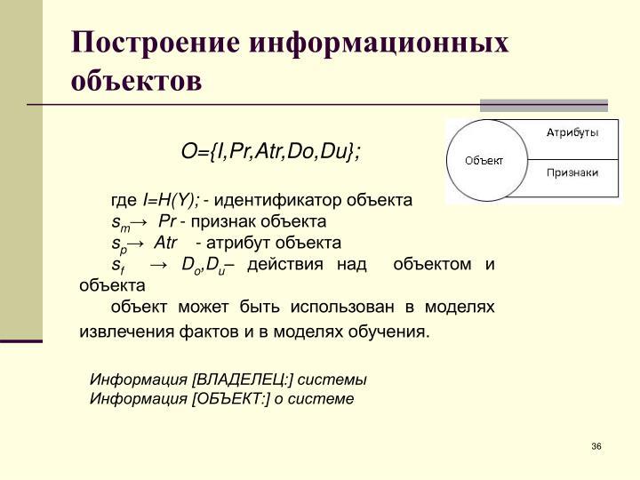 Построение информационных объектов
