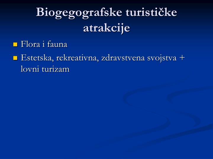 Biogegografske turističke atrakcije