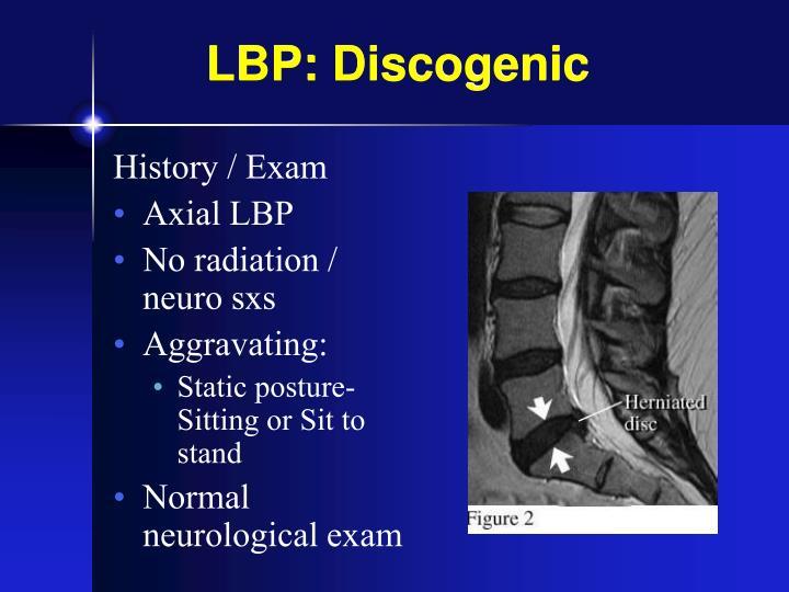 LBP: Discogenic