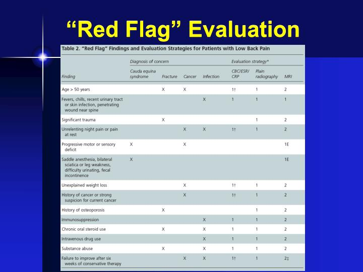 """Red Flag"" Evaluation"