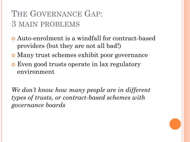 The Governance Gap:
