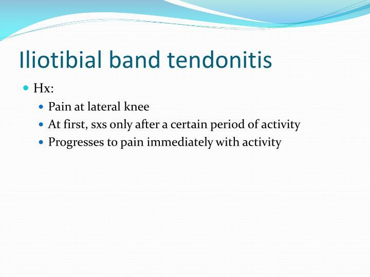 Iliotibial band tendonitis