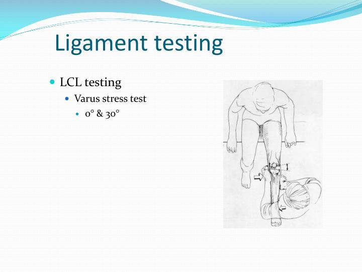 Ligament testing