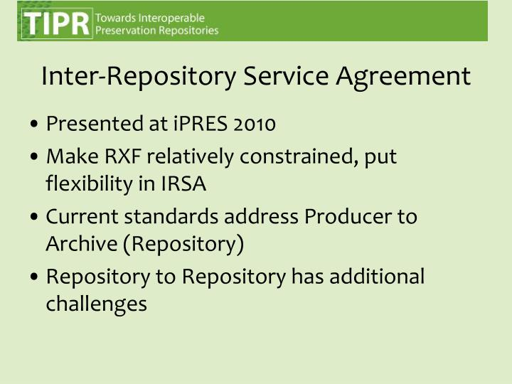 Inter-Repository Service Agreement