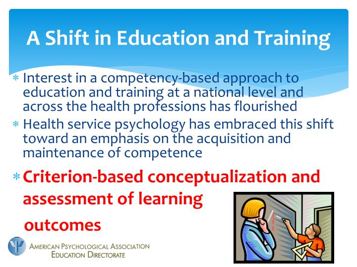 A Shift in Education and Training