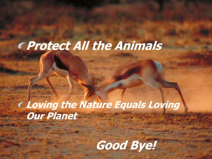 Protect All the Animals