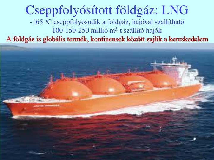 Cseppfolyósított földgáz: LNG