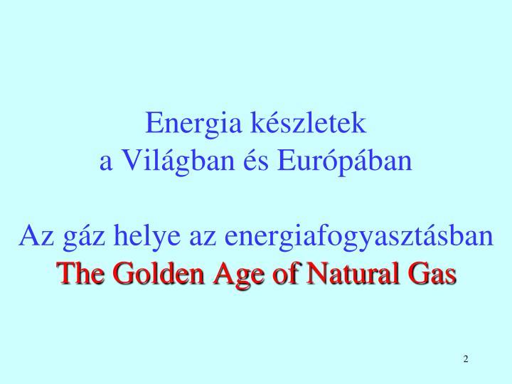 Energia készletek