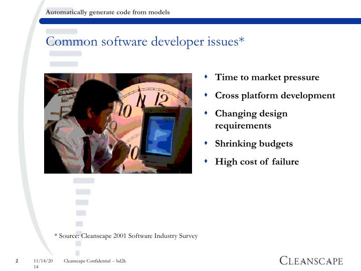 Common software developer issues*