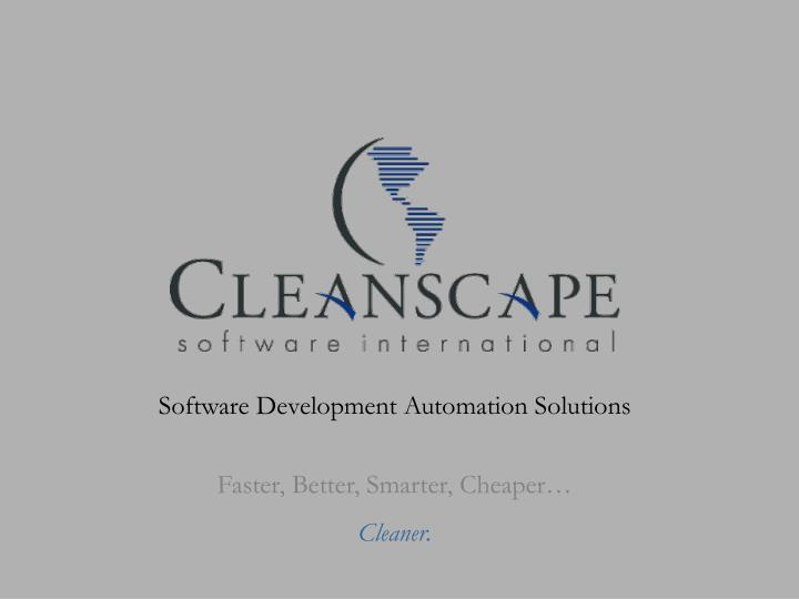 Software Development Automation Solutions