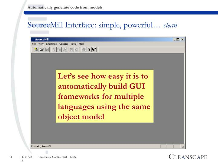 SourceMill Interface: simple, powerful…
