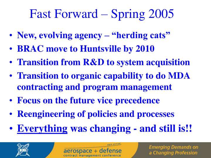 Fast Forward – Spring 2005