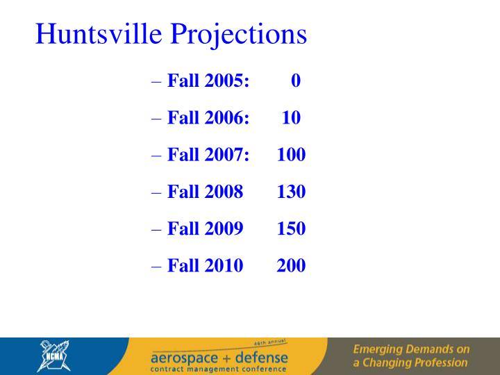 Huntsville Projections
