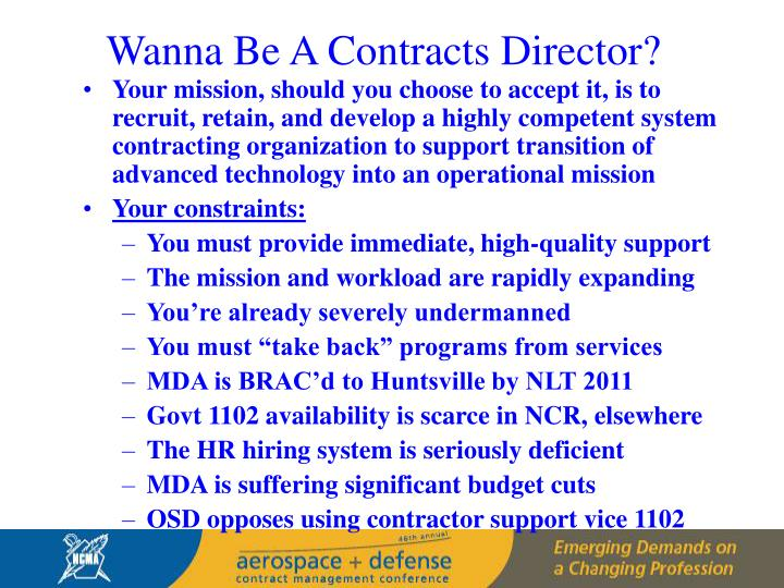 Wanna Be A Contracts Director?