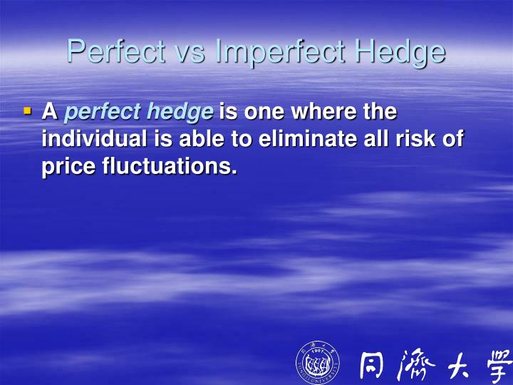 Perfect vs Imperfect Hedge