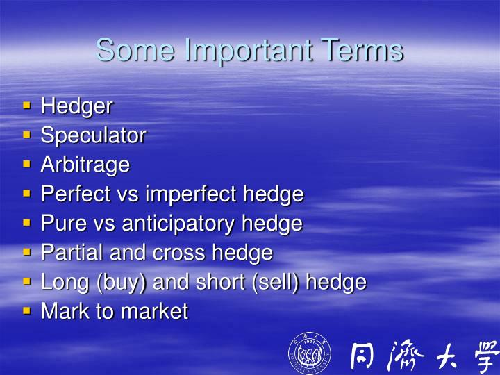 Some Important Terms