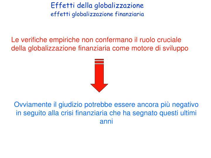 Effetti della globalizzazione