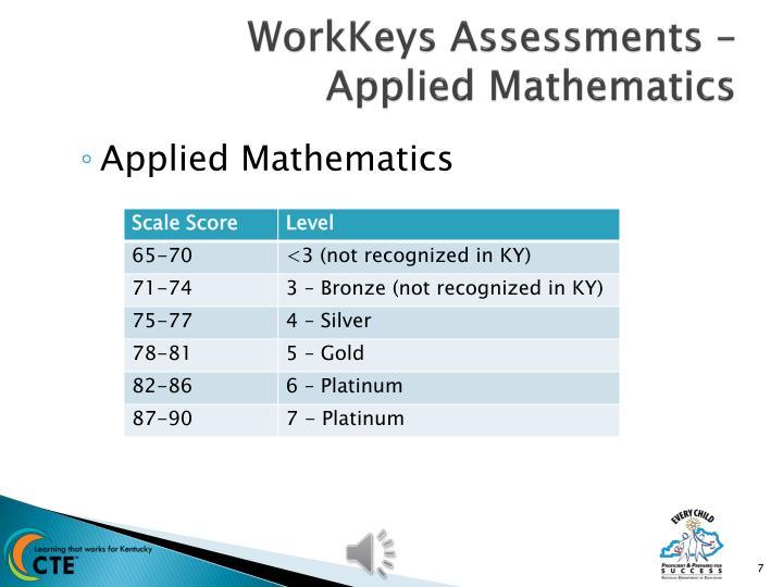 WorkKeys Assessments –