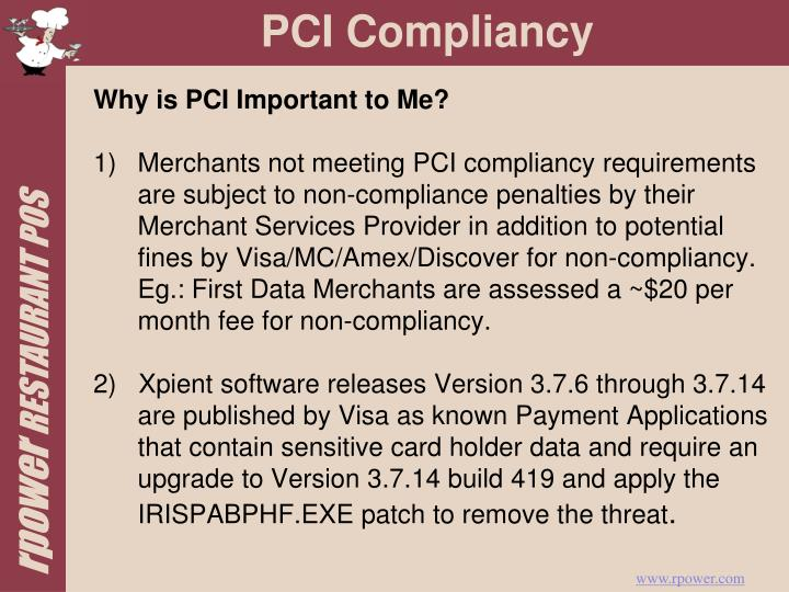 Why is PCI Important to Me?